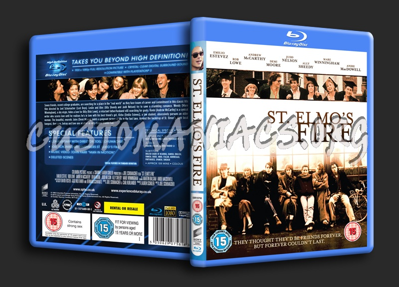 St Elmo's Fire blu-ray cover