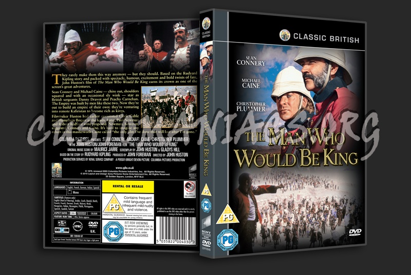 The Man Who Would Be King dvd cover