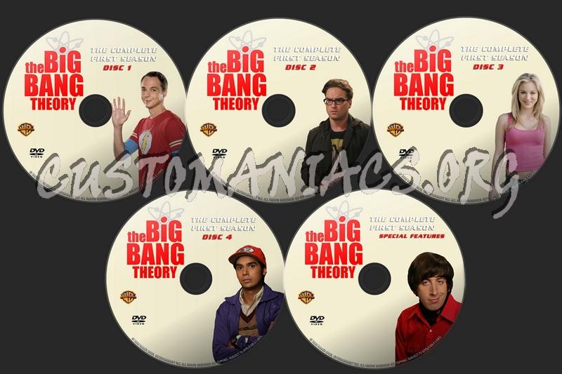The Big Bang Theory Season 1 dvd label