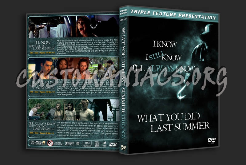 I Know/I Still Know/I'll Always Know What You Did Last Summer Trilogy dvd cover