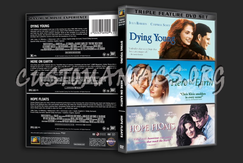 Dying Young / Here on Earth / Hope Floats dvd cover