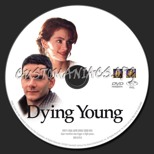 Dying Young dvd label