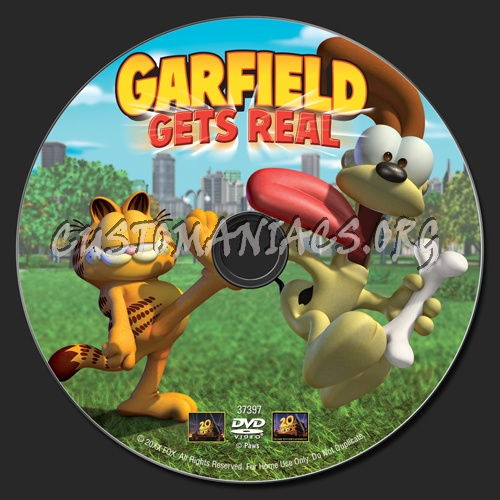 Garfield Gets Real Dvd Label Dvd Covers Labels By Customaniacs Id 99396 Free Download Highres Dvd Label