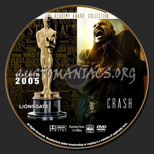 Academy Awards Collection - Crash dvd label