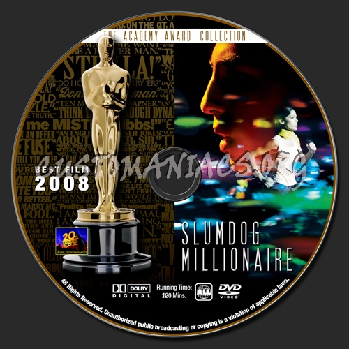 Academy Awards Collection - Slumdog Millionaire dvd label