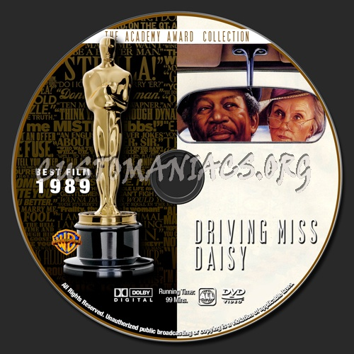 Academy Awards Collection - Driving Miss Daisy dvd label