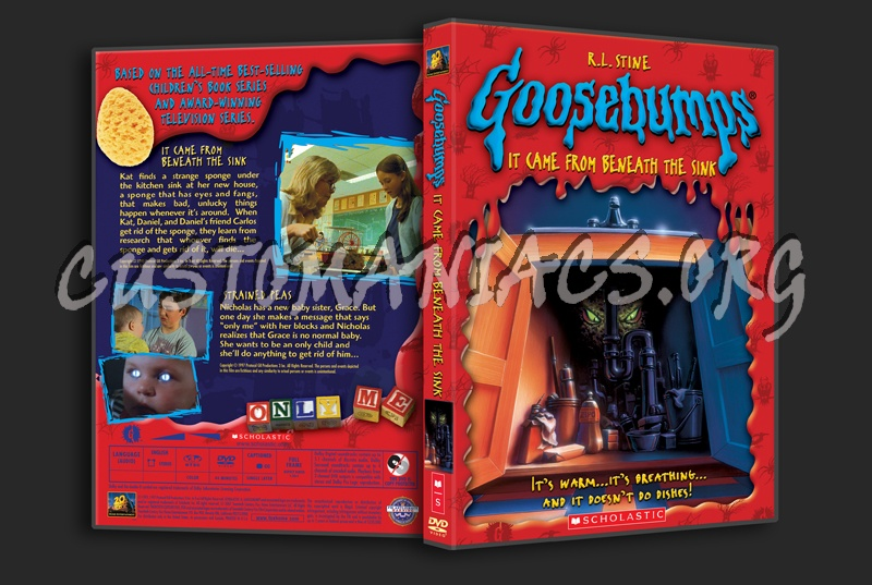 goosebumps it came from beneath the sink dvd cover dvd