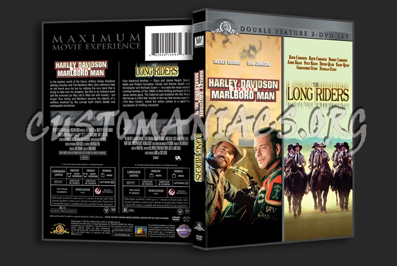 Harley Davidson And The Marlboro Man The Long Riders Dvd Cover