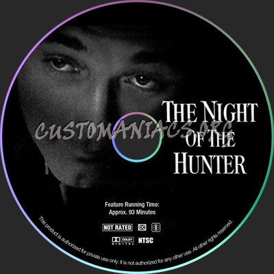 The Night of the Hunter dvd label