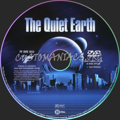 The Quiet Earth dvd label