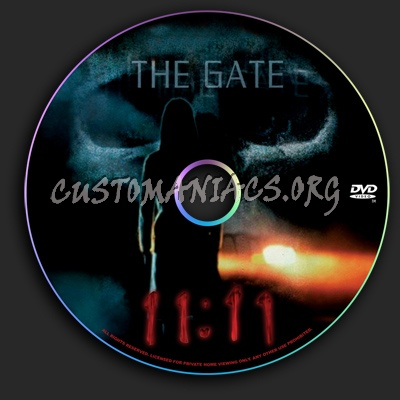 11:11 The Gate dvd label