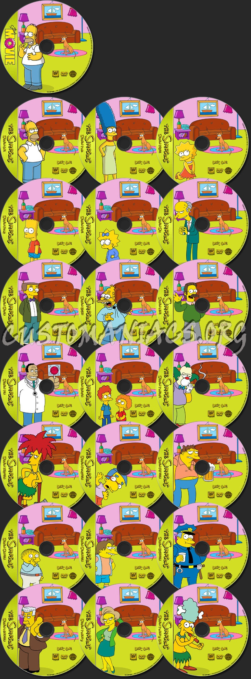 The Simpsons - TV Collection dvd label