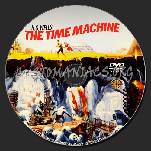 The Time Machine (1960) dvd label