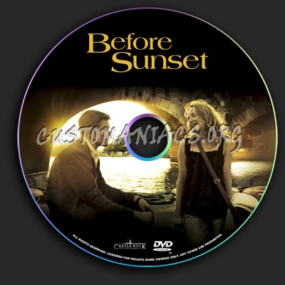 Before Sunset dvd label