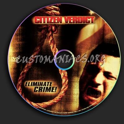 Citizen Verdict dvd label
