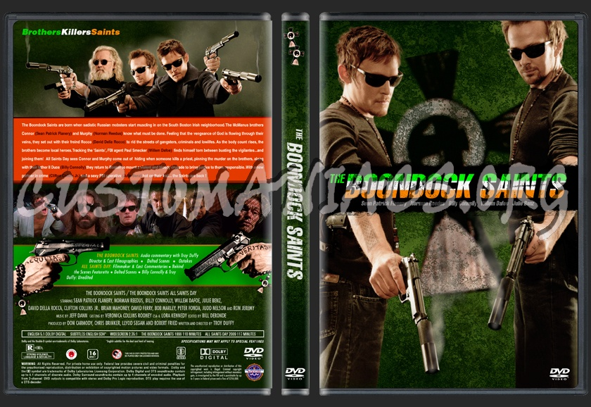 The Boondock Saints + All Saints Day combo dvd cover