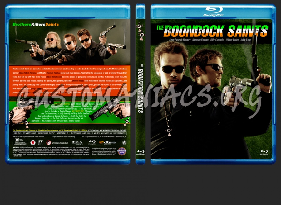 The Boondock Saints + All Saints Day combo blu-ray cover