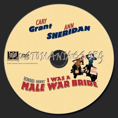 I Was A Male War Bride dvd label