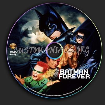 Batman Forever dvd label