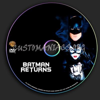 Batman Returns dvd label