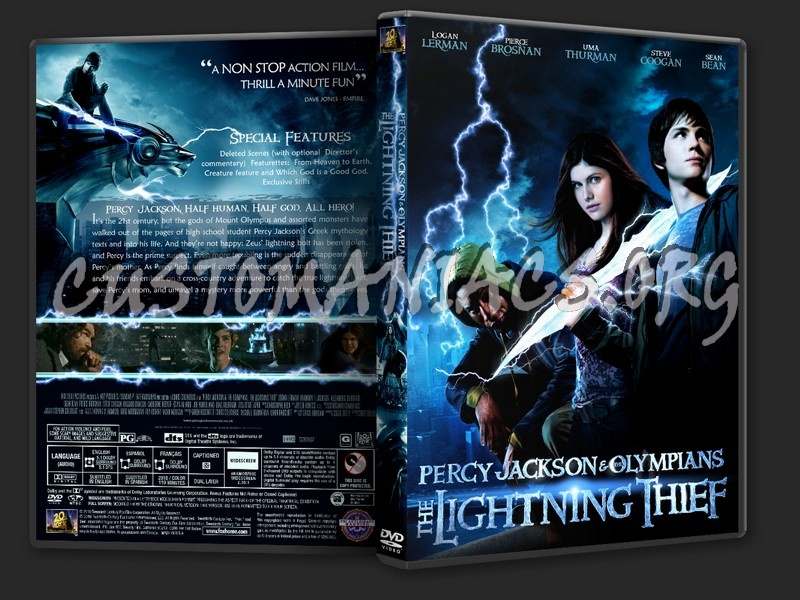 Percy Jackson and the Olympians: The Lightning Thief dvd cover