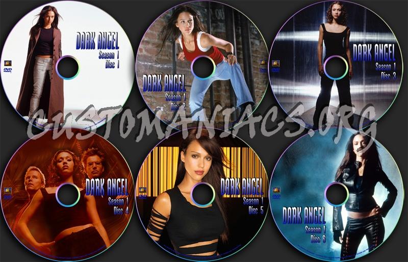 Dark Angel season 1 dvd label