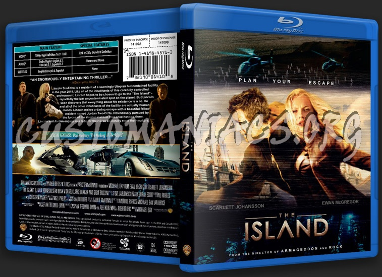 The Island blu-ray cover