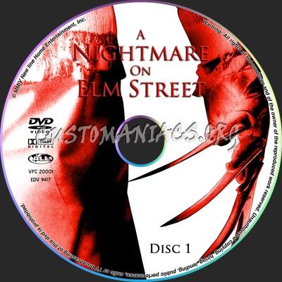 A nightmare on Elm Street dvd label
