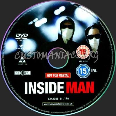 Inside Man dvd label