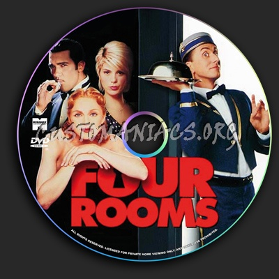 Four Rooms dvd label