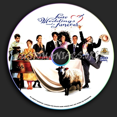 Four Weddings and a Funeral dvd label