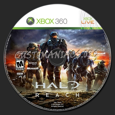 Halo: Reach dvd label