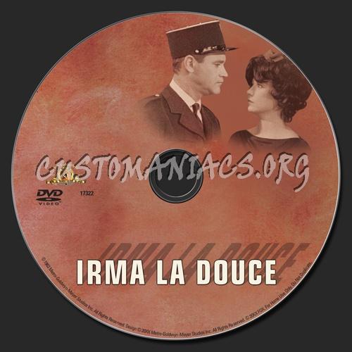 Irma La Douce dvd label