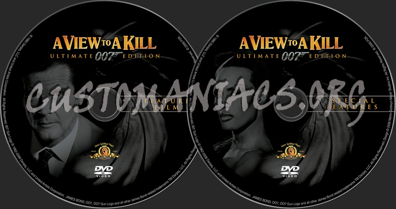 James Bond: A View to A Kill dvd label