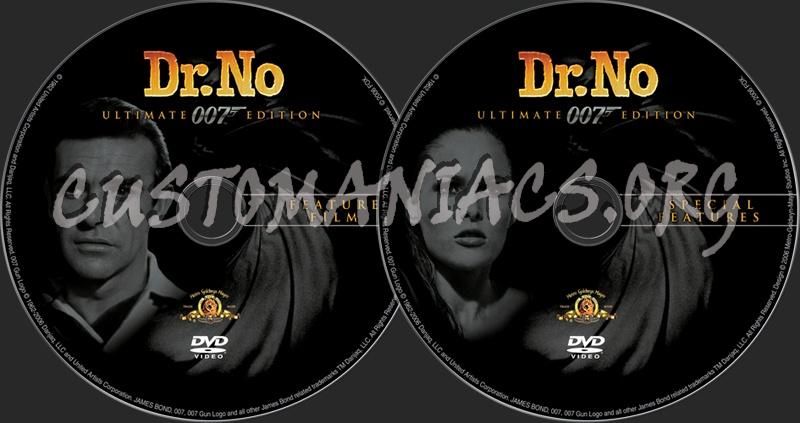 James Bond: Dr. No dvd label