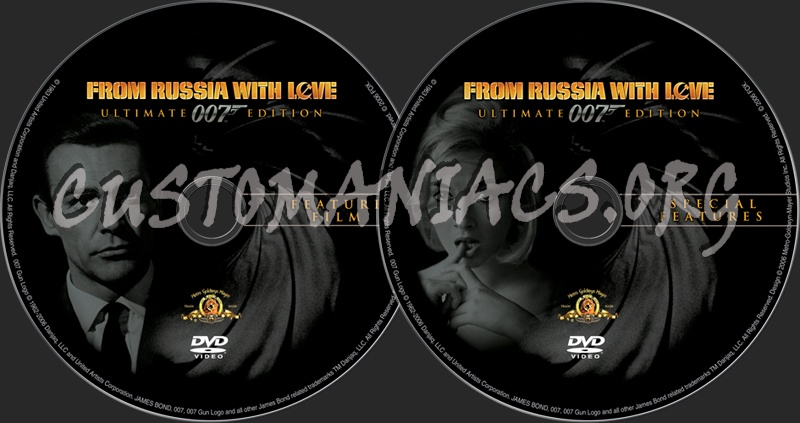 James Bond: From Russia With Love dvd label
