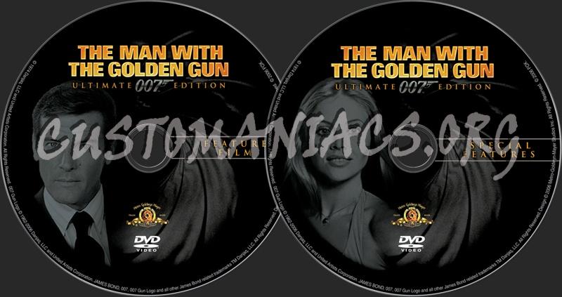 James Bond: The Man With the Golden Gun dvd label