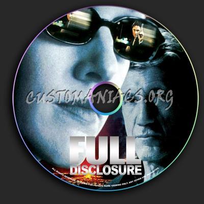 Full Disclosure dvd label