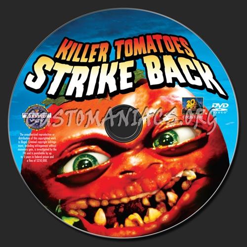 Killer Tomatoes Strike Back dvd label