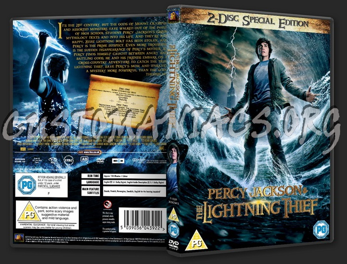 Percy Jackson And The Lightning Thief dvd cover
