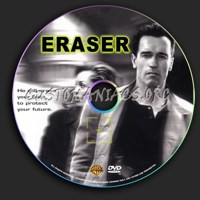 Eraser dvd label