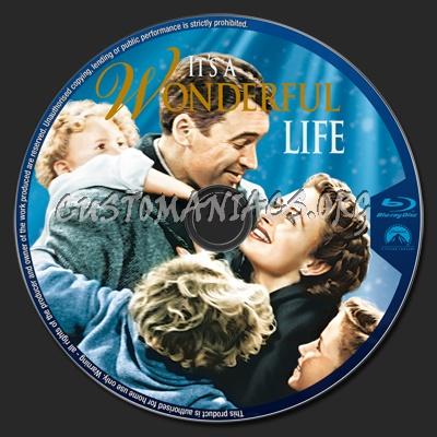 It's A Wonderful Life blu-ray label