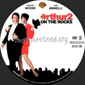 Arthur 2: On the Rocks dvd label