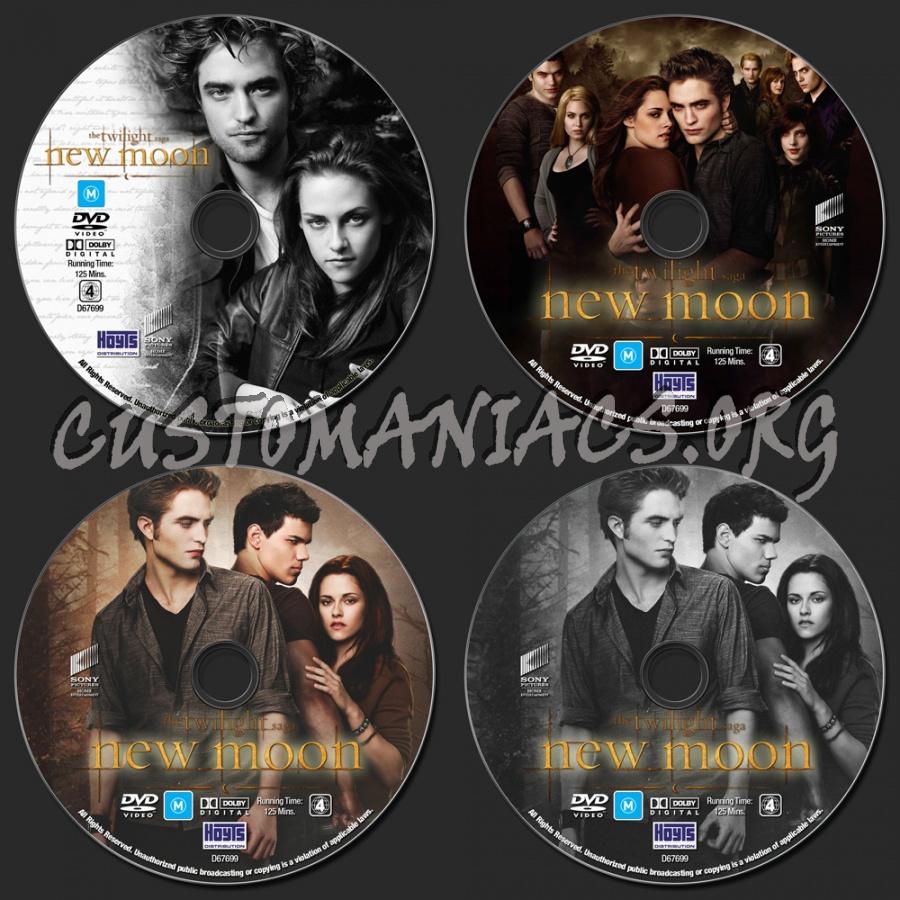 The Twilight Saga : New Moon dvd label