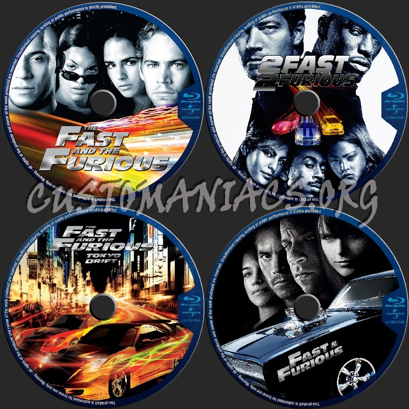 The Fast & Furious Collection blu-ray label