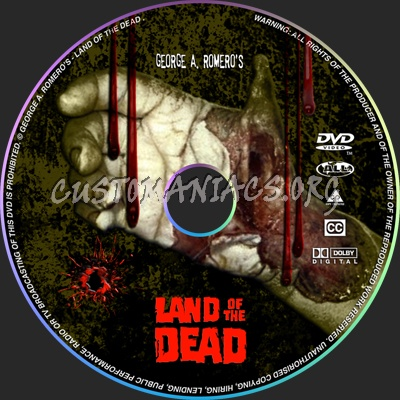 Land Of The Dead dvd label