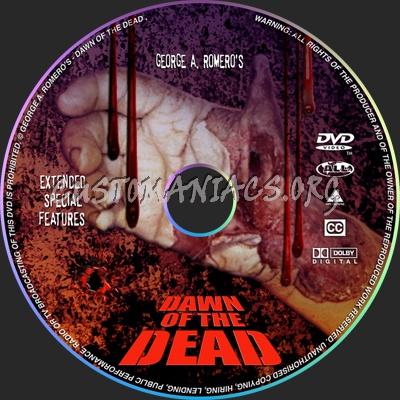 Dawn of the dead SF Disc dvd label