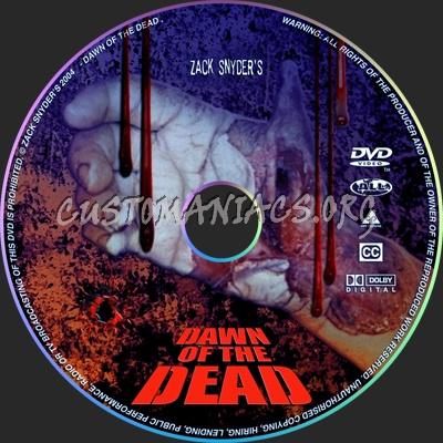 Dawn Disc zack dvd label