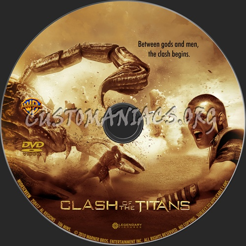 Clash of the Titans dvd label