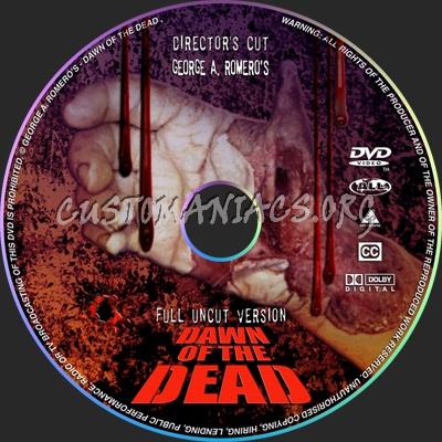 Dawn Directors Cut Disc dvd label